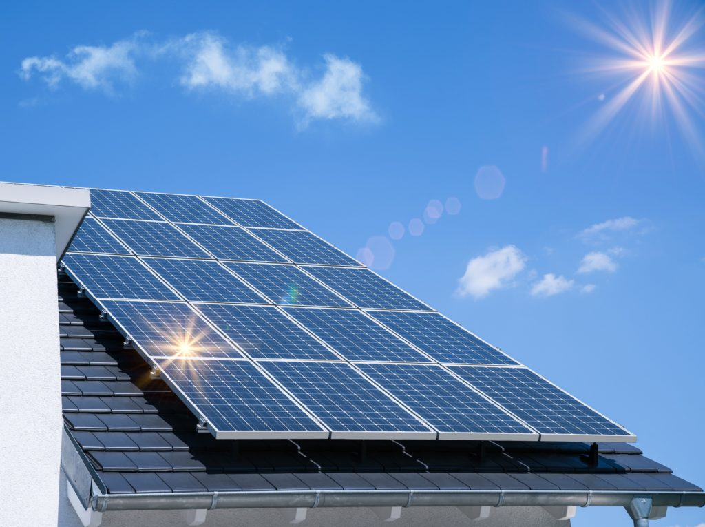 Image of a Solar panel in Residential house